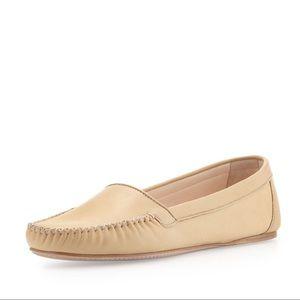 PRADA nude Napa stitch loafers. Excellent pair